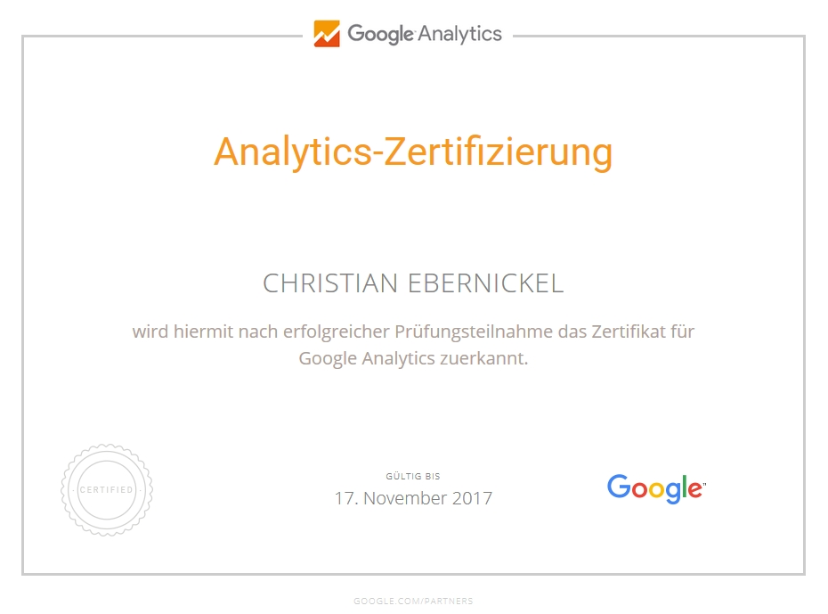 Christian Ebernickel - Google Analytics Spezialist