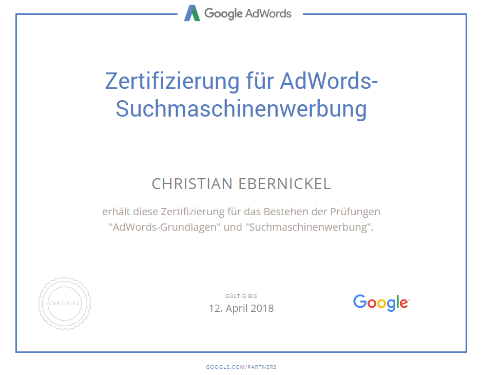 Christian Ebernickel - Google AdWords Berater