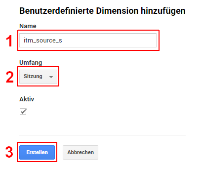Benutzerdefinierte Dimensionen in Google Analytics anlegen, 04