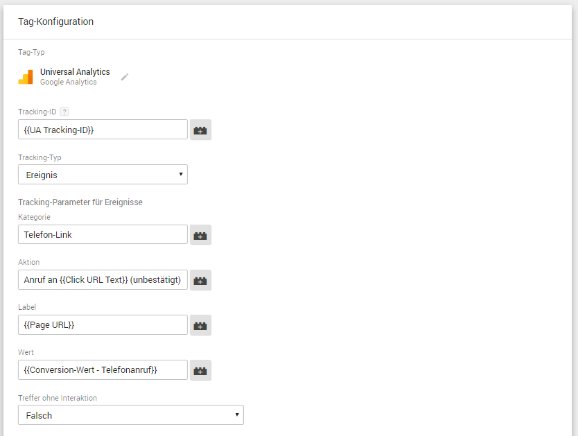 Google Tag Manager: Konfiguration eines Tracking-Tags